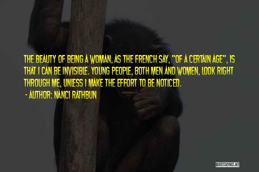 Beauty And Woman Quotes By Nanci Rathbun