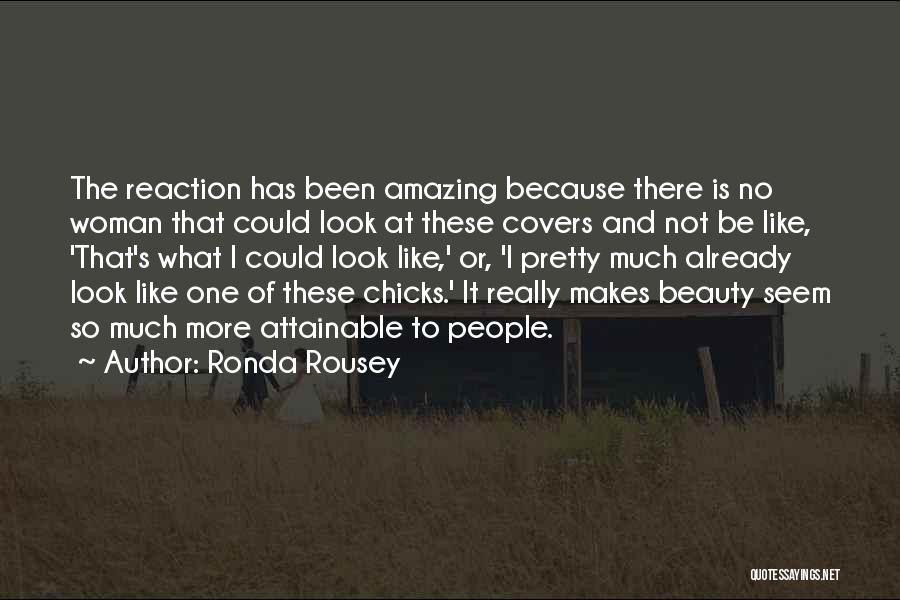 Beauty And Woman Quotes By Ronda Rousey