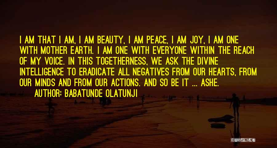 Beauty In The Heart Quotes By Babatunde Olatunji