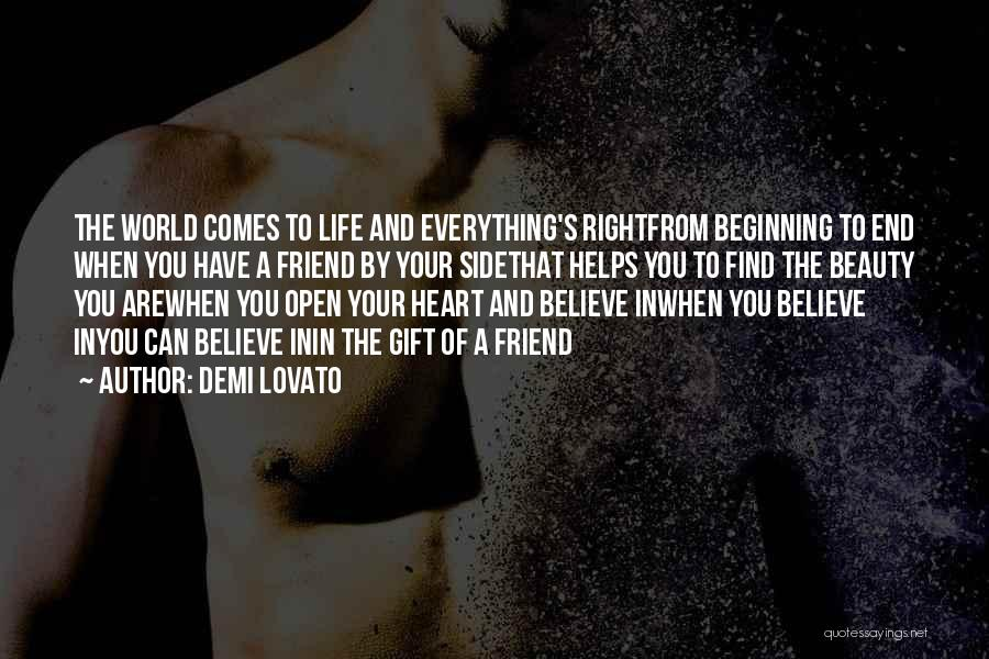 Beauty In The Heart Quotes By Demi Lovato