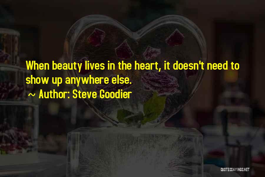 Beauty In The Heart Quotes By Steve Goodier