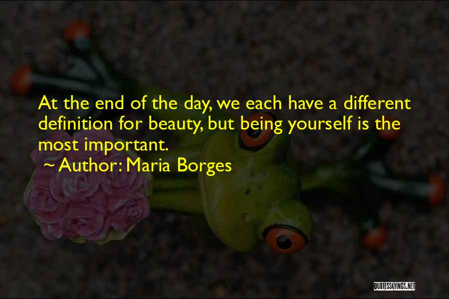 Beauty Not Being Important Quotes By Maria Borges