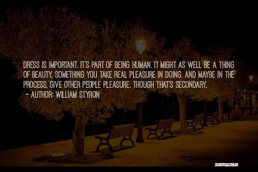 Beauty Not Being Important Quotes By William Styron
