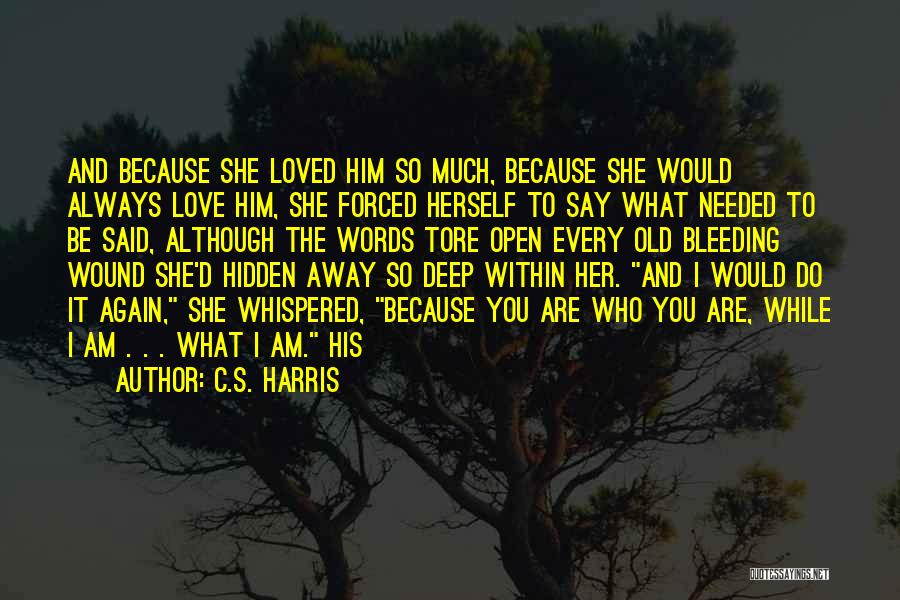 Because I Said So Love Quotes By C.S. Harris