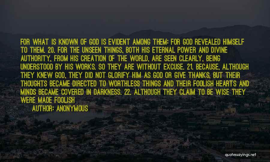 Because Of God Quotes By Anonymous