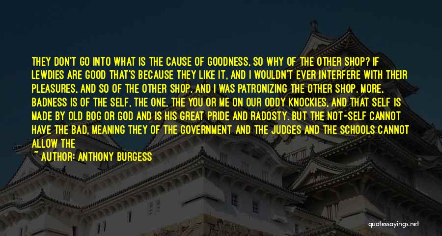 Because Of God Quotes By Anthony Burgess