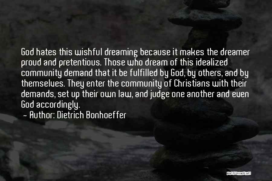 Because Of God Quotes By Dietrich Bonhoeffer