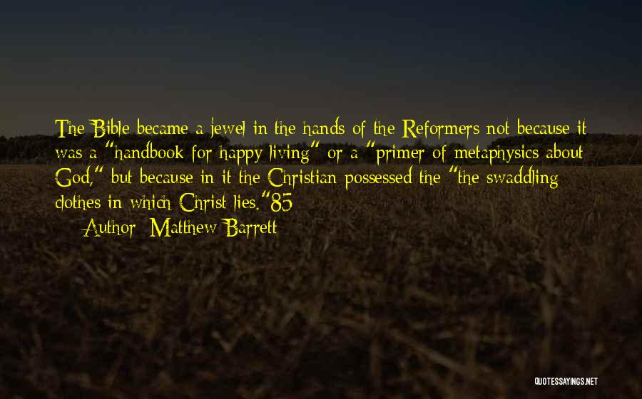 Because Of God Quotes By Matthew Barrett