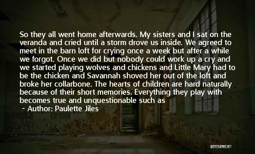Because We Are Sisters Quotes By Paulette Jiles
