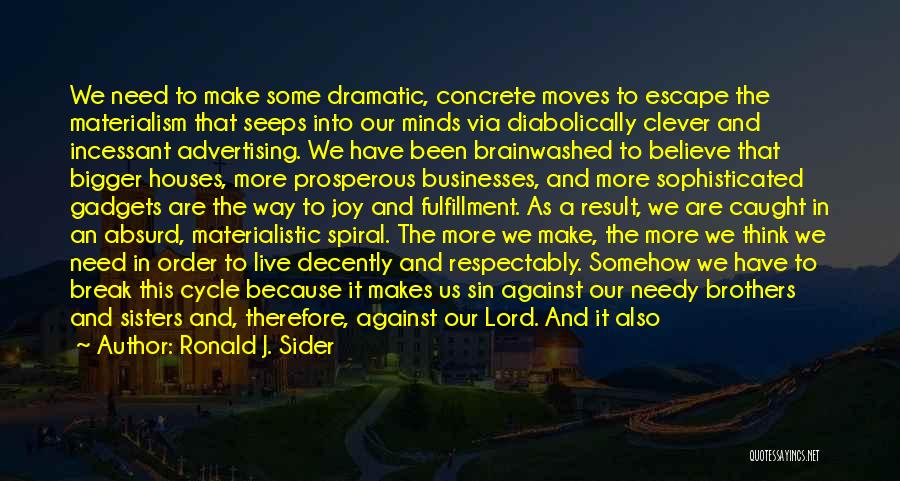 Because We Are Sisters Quotes By Ronald J. Sider