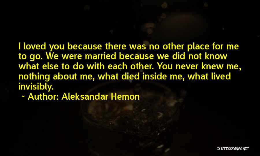 Because We Love Each Other Quotes By Aleksandar Hemon