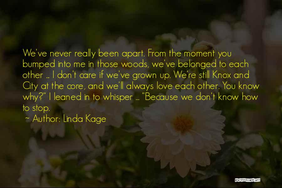 Because We Love Each Other Quotes By Linda Kage