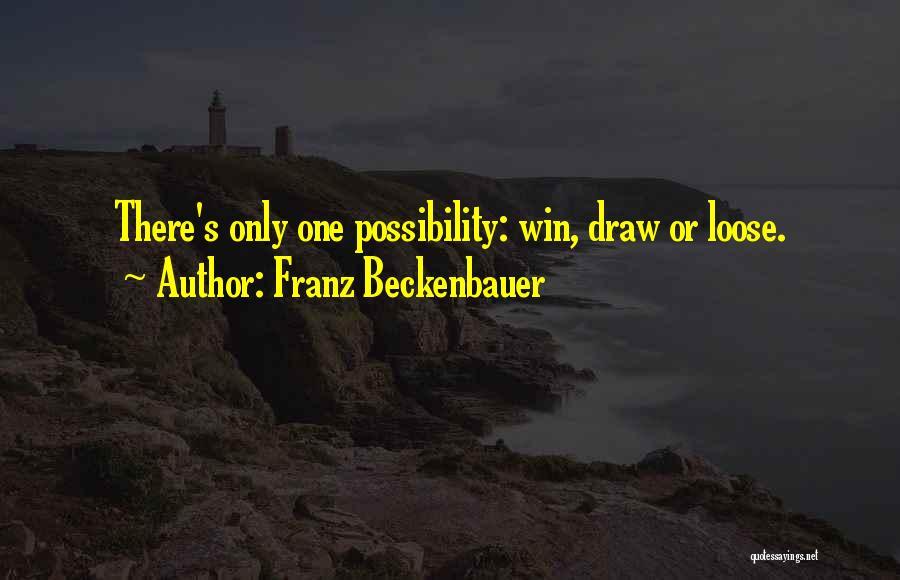 Beckenbauer Quotes By Franz Beckenbauer