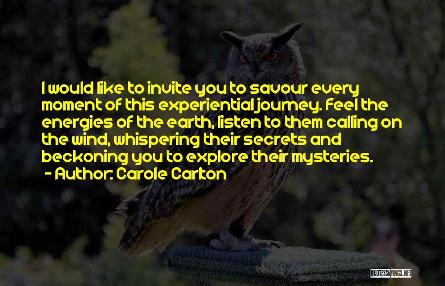 Beckoning Quotes By Carole Carlton