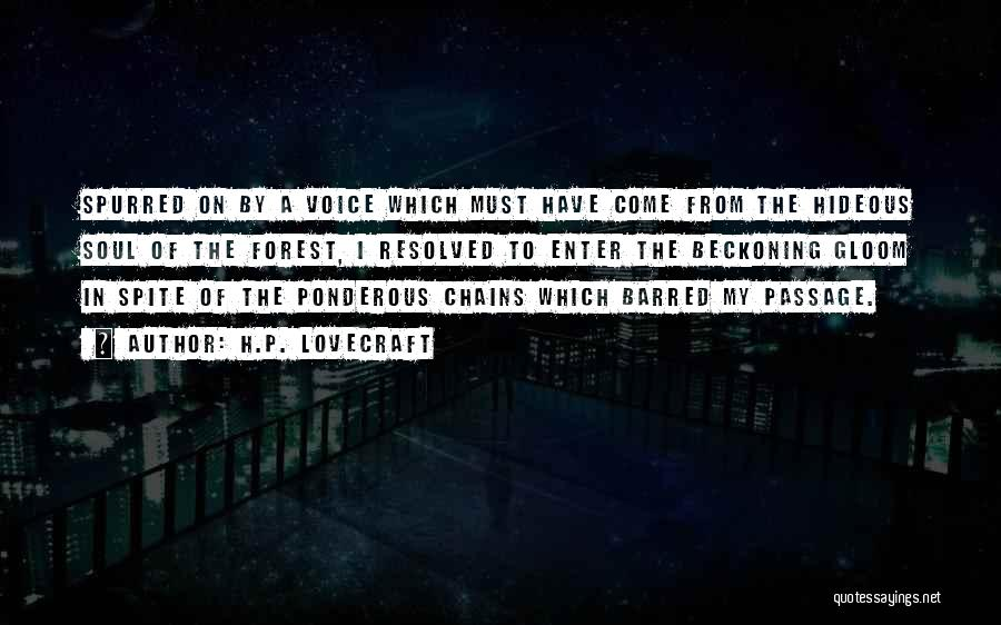 Beckoning Quotes By H.P. Lovecraft