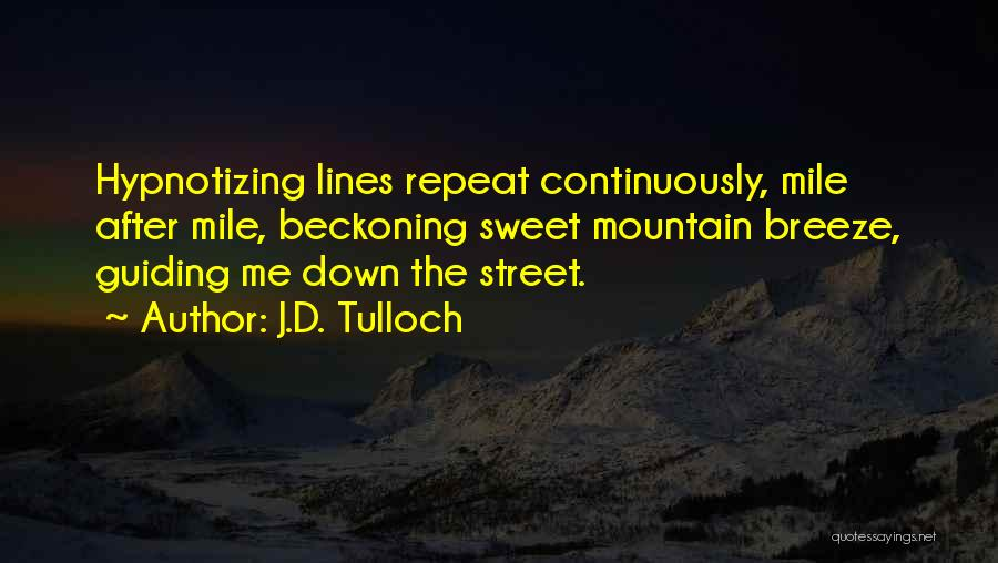 Beckoning Quotes By J.D. Tulloch