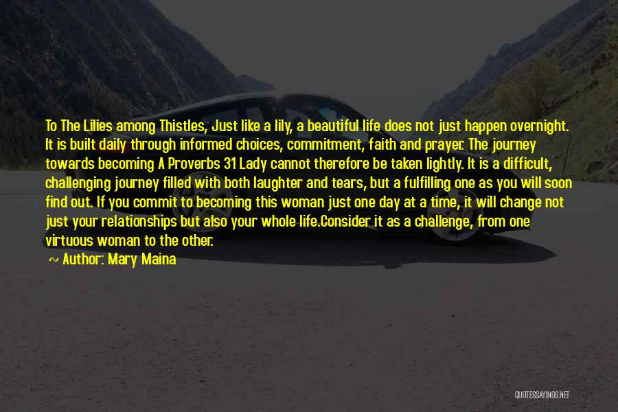 Becoming A Young Lady Quotes By Mary Maina