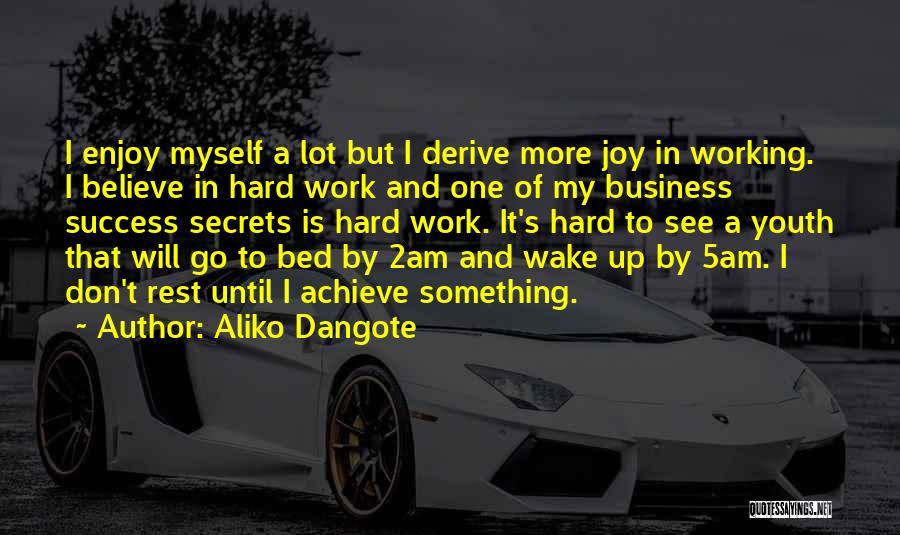 Bed Rest Quotes By Aliko Dangote