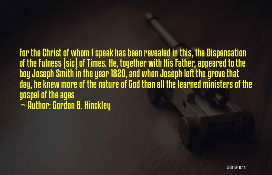 Been Together One Year Quotes By Gordon B. Hinckley