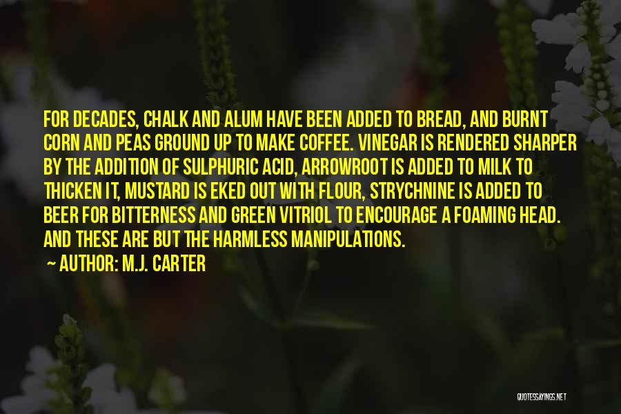 Beer And Coffee Quotes By M.J. Carter