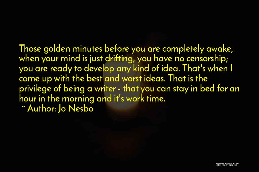 Before Bed Quotes By Jo Nesbo
