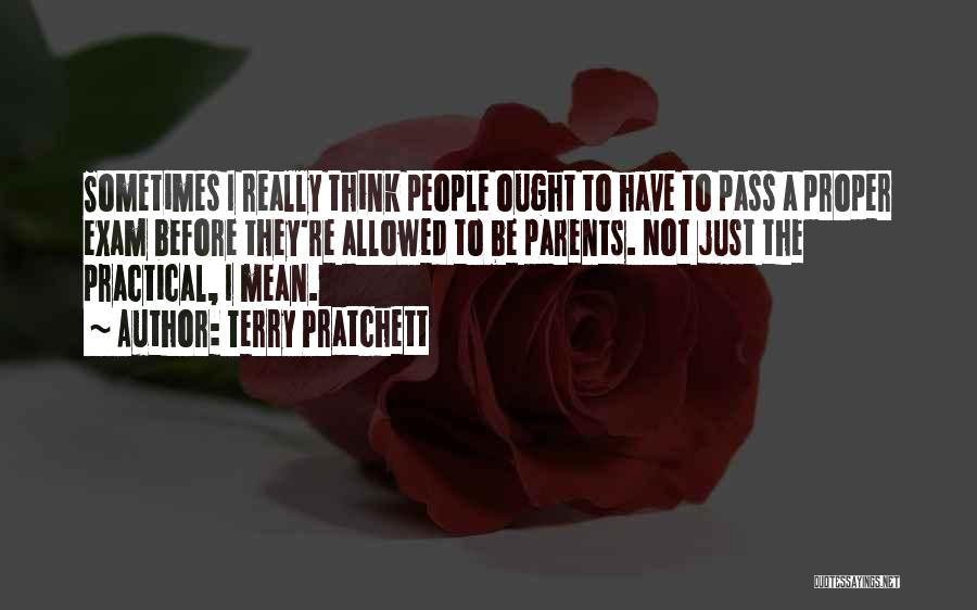 Before Exam Quotes By Terry Pratchett
