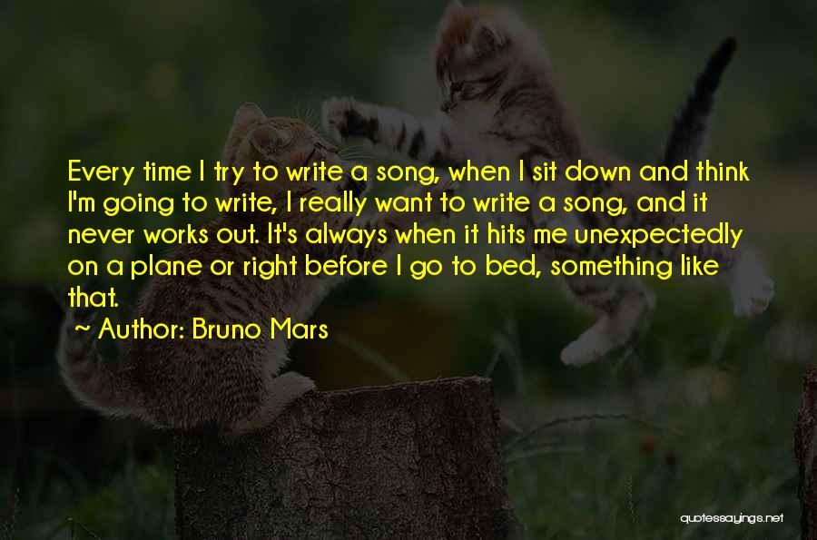 Before Going To Bed Quotes By Bruno Mars