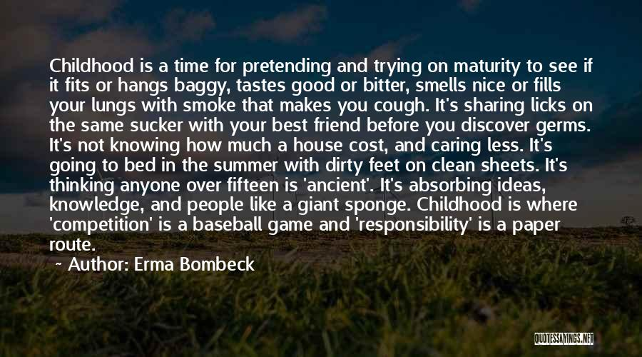 Before Going To Bed Quotes By Erma Bombeck