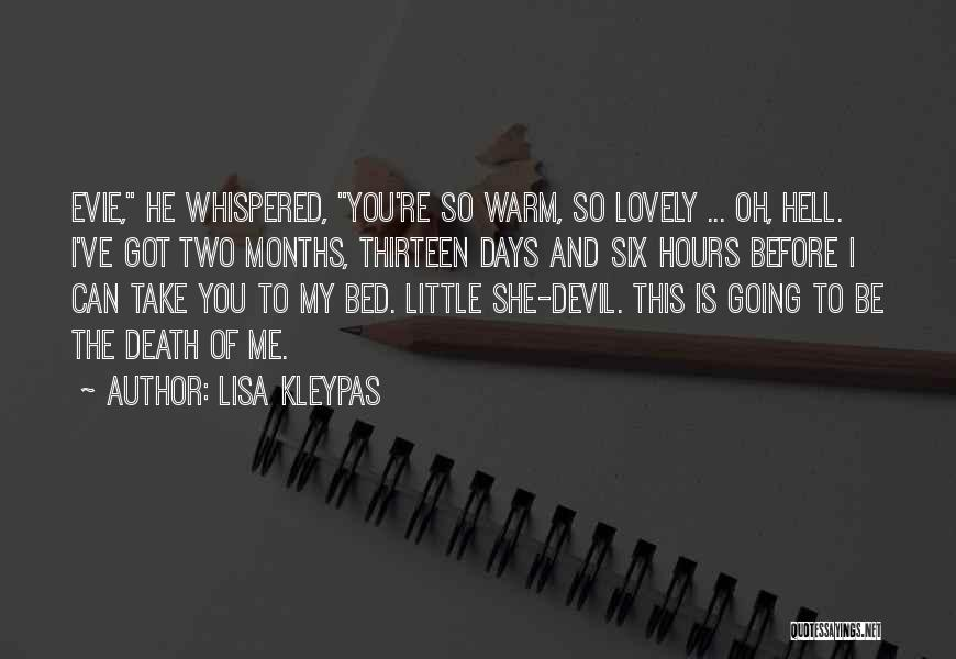 Before Going To Bed Quotes By Lisa Kleypas