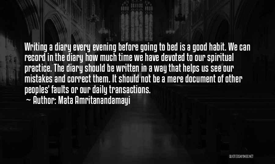 Before Going To Bed Quotes By Mata Amritanandamayi
