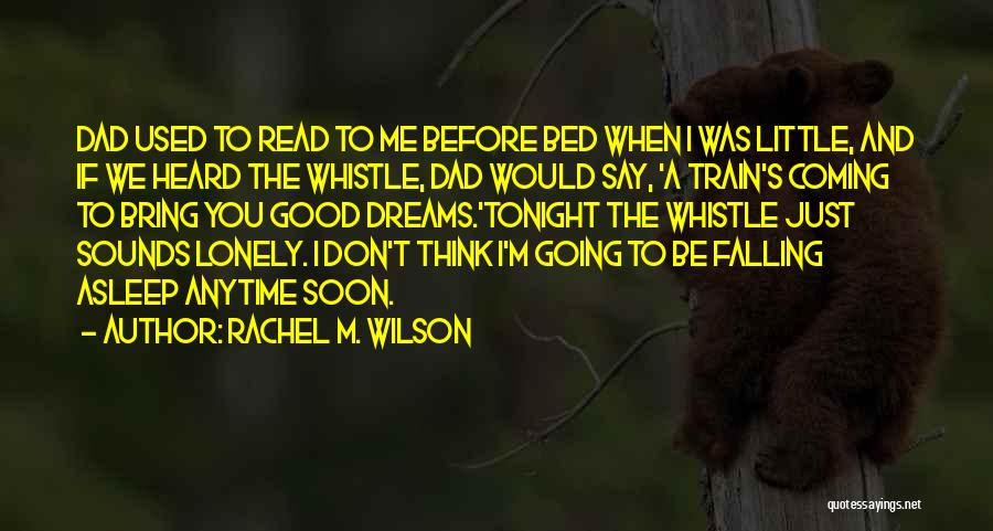 Before Going To Bed Quotes By Rachel M. Wilson