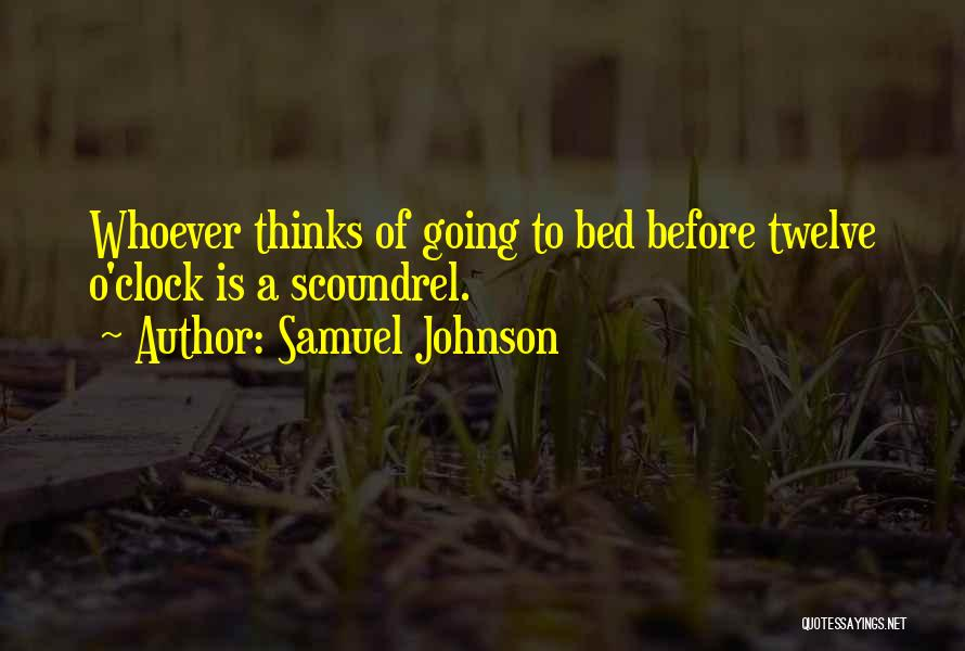 Before Going To Bed Quotes By Samuel Johnson
