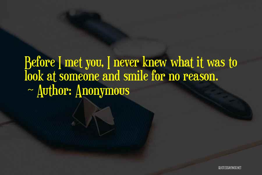 Before I Met You I Never Knew Quotes By Anonymous