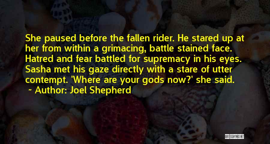 Before The Battle Quotes By Joel Shepherd