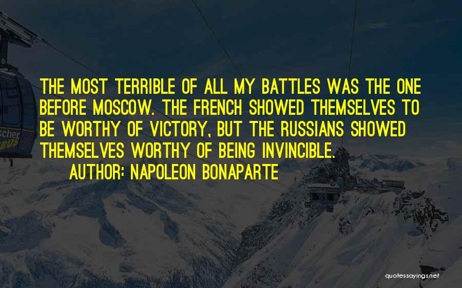 Before The Battle Quotes By Napoleon Bonaparte