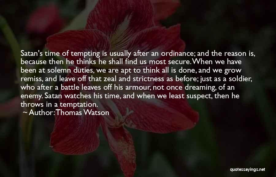 Before The Battle Quotes By Thomas Watson
