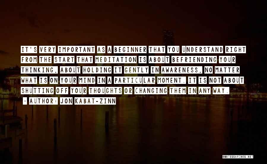 Befriending Yourself Quotes By Jon Kabat-Zinn