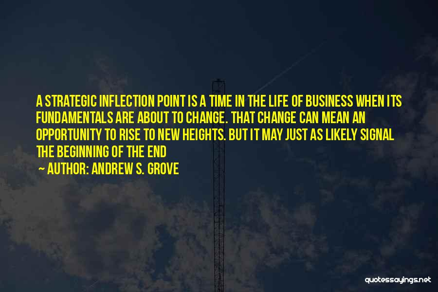 Beginning Of A New End Quotes By Andrew S. Grove