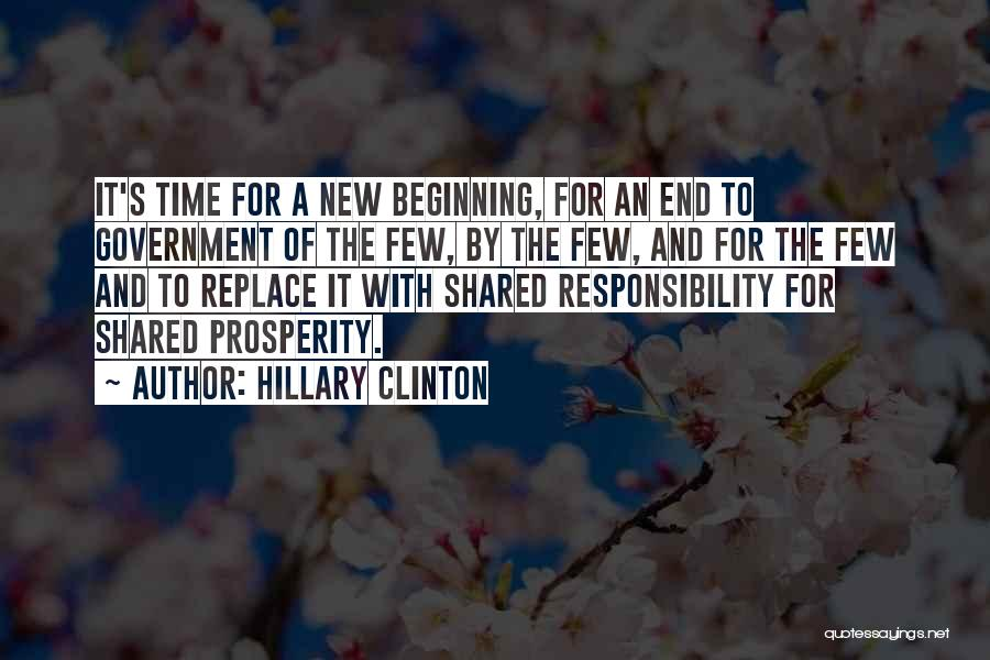 Beginning Of A New End Quotes By Hillary Clinton