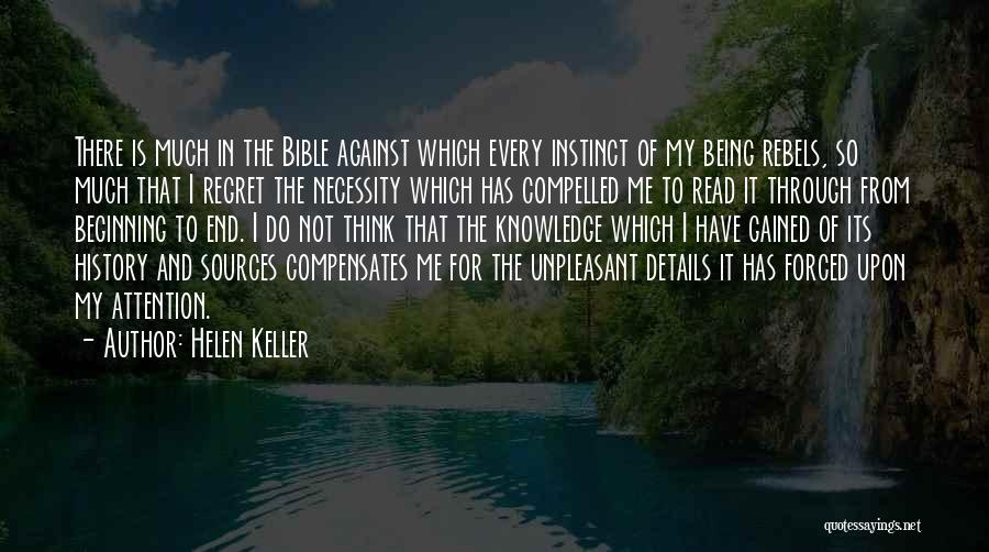 Beginning Of The End Quotes By Helen Keller