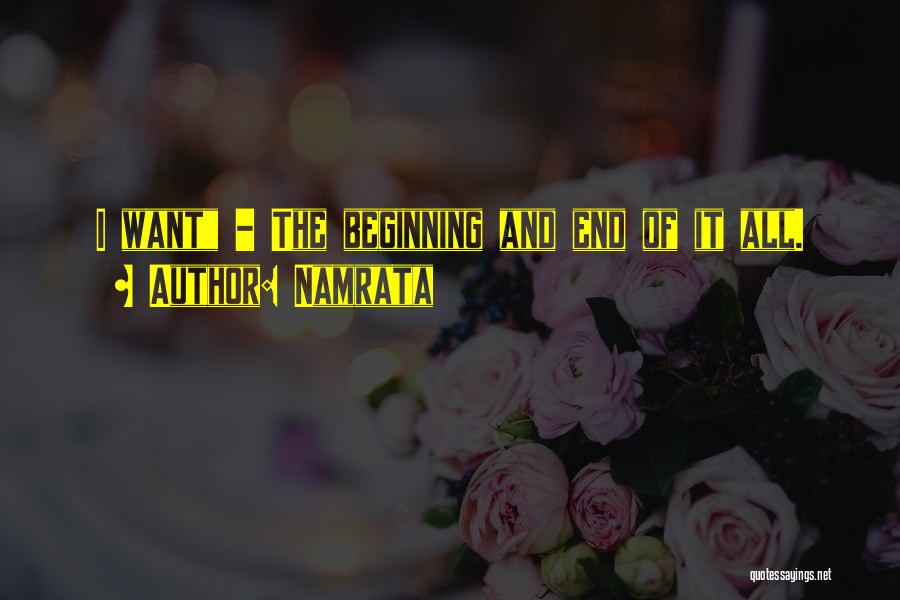 Beginning Of The End Quotes By Namrata