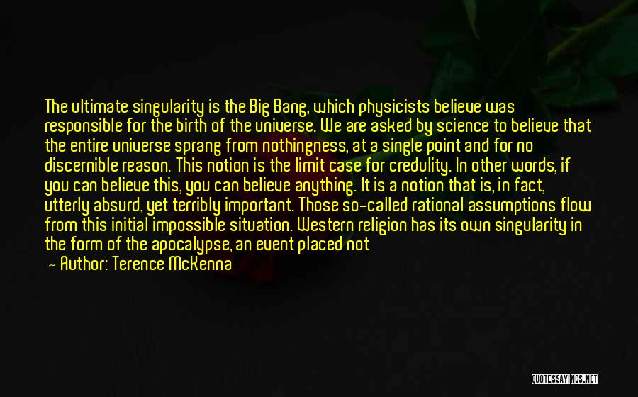 Beginning Of The End Quotes By Terence McKenna