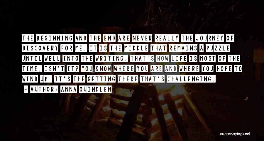Beginning Of The Journey Quotes By Anna Quindlen