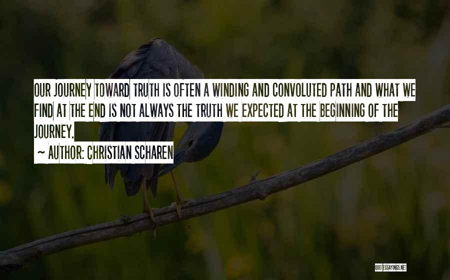 Beginning Of The Journey Quotes By Christian Scharen