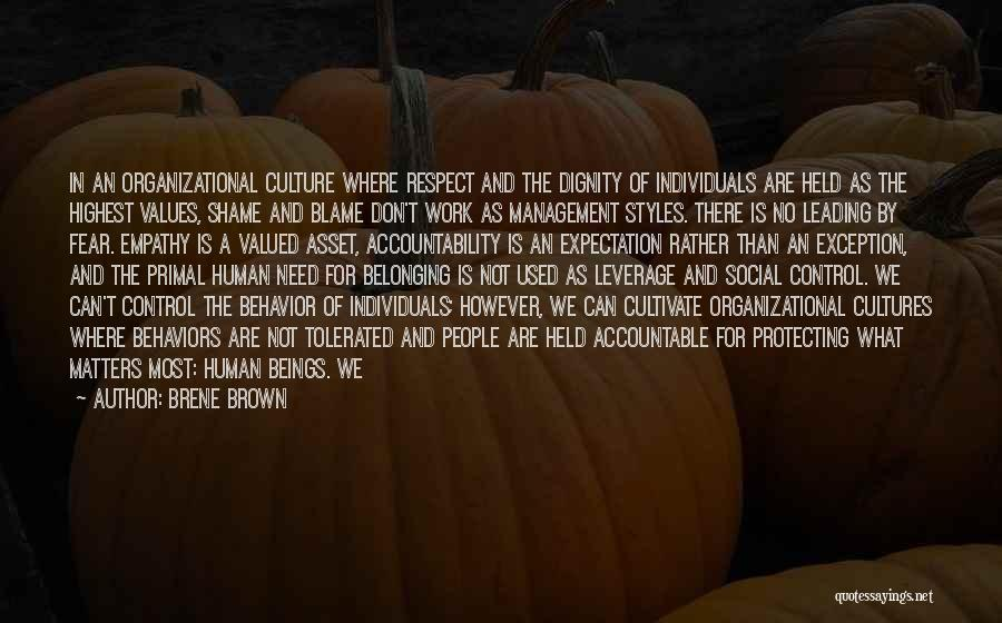 Behavior Management Quotes By Brene Brown