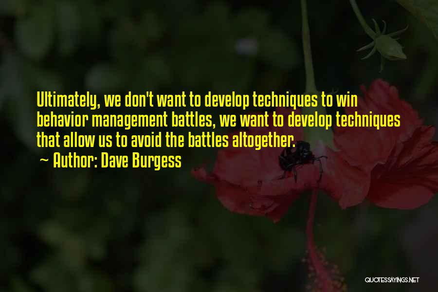 Behavior Management Quotes By Dave Burgess