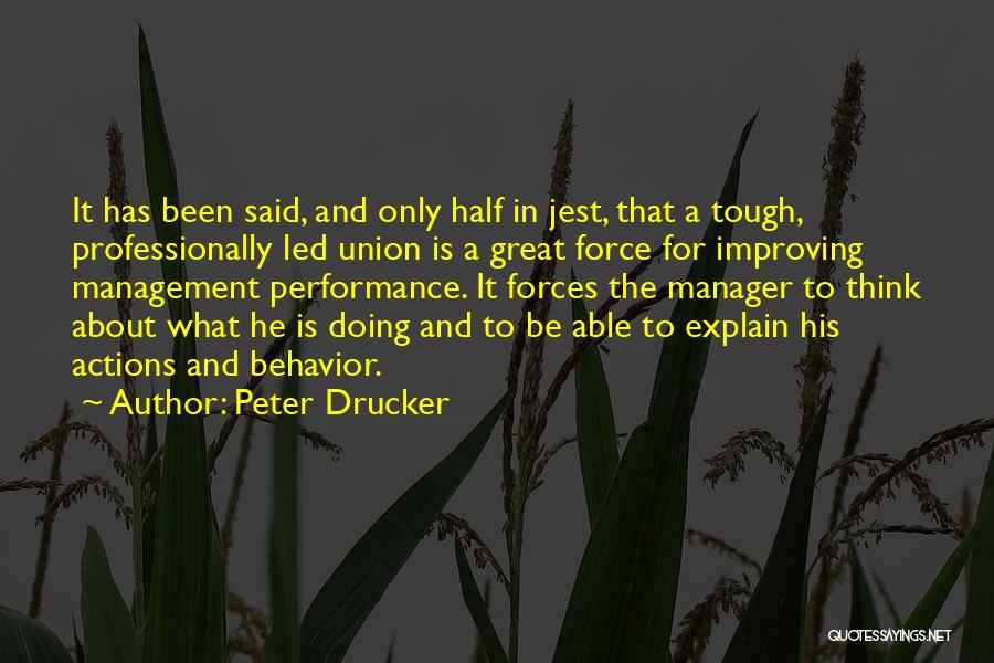 Behavior Management Quotes By Peter Drucker