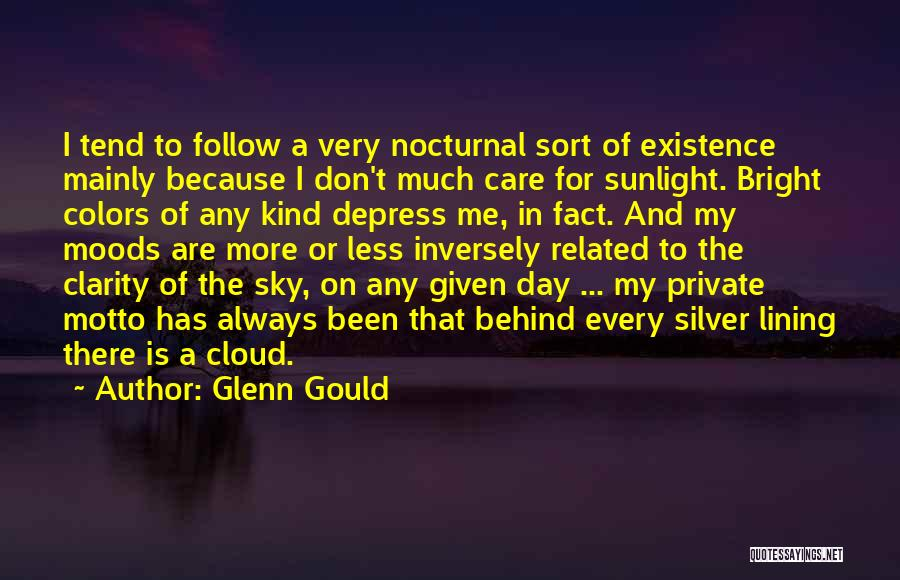 Behind Every Cloud Quotes By Glenn Gould