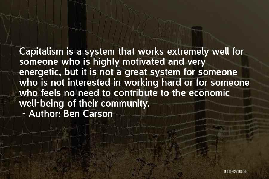 Being A Community Quotes By Ben Carson