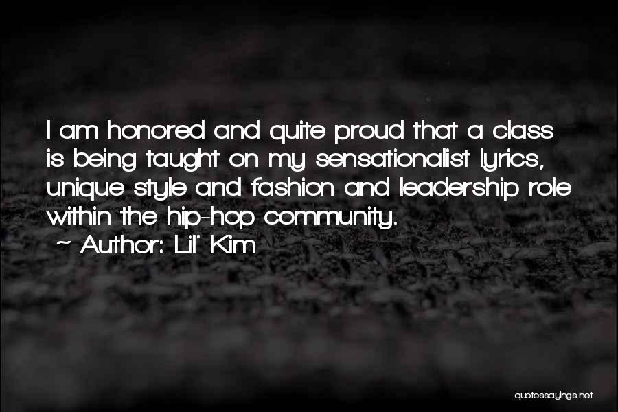 Being A Community Quotes By Lil' Kim